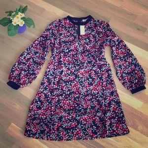 NWT Loft Berry Dress with Velvet Trim